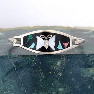 Mexican Bracelet Turquoise Malachite MOP Shell i30